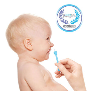 oogiebear - The Safe Baby Nasal Booger and Ear Cleaner; Baby Shower and Registry Essential Snot Removal Tool - 1 Count Blue