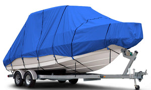 "Budge B-620-X6 600 Denier Hard/T-Top Boat Cover Blue 20'-22' Long (Beam Width Up to 106"") Waterproof, UV Resistant 20'-22' Long (Beam Width Up to 106"")"