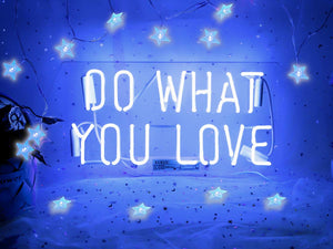 Neon Signs Do What You Love Blue Neon Light Sign Real Neon Sign Wall Sign Neon Lamp Art Decorative Light Signs Neon Words Custom for Home Bedroom Room Decor Office Halloween Party Wedding Holidays C - Blue Neon Signs Do What You Love Green