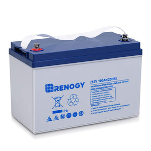 Renogy Deep Cycle Hybrid Gel 12 Volt 100Ah Battery 100Ah Hybrid Gel Ez Store USA