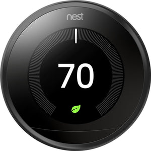 Google 9750016 T3016US Thermostat, 3.3 x 1.2 x 3.3, Black Thermostat Only