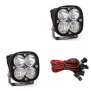 Baja Designs, 557803, LED Light, Squadron Sport, Black, Driving/ Combo, Pair