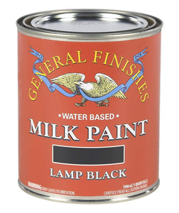 General Finishes Water Based Milk Paint, 1 Quart, Lamp Black