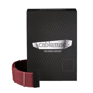 CableMod PRO ModMesh C-Series RMi & RMX (Black Label) Cable Kit - Blood RED