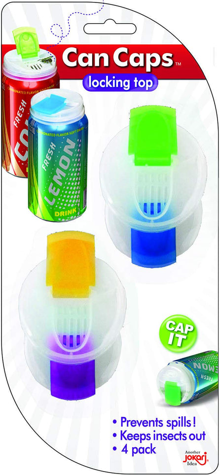 Soda Can Covers 4 Pack for Carbonated Water or Soft Drink - Best Beer Cans Cover Easy Clip on Caps Lid Seal Opening for a Fresher Drinking Experience Original version