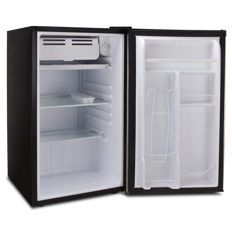 RCA RFR320 Single Door Mini Fridge with Freezer, 3.2 Cu. Ft. capacity - Black 3.2 CU.FT