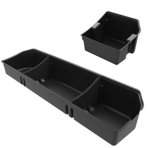 OEDRO Upgraded Under Seat Storage Box Compatible for 2015-2020 Ford F150 SuperCrew Cab & Crew Cab - Unique Textured Black 2-in-1 Design Max Storage (Excl. Super Cab)