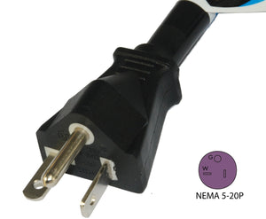 Conntek NEMA 5-20 Outdoor Extension Cords, 20 Amps 125 Volts 25 Feet