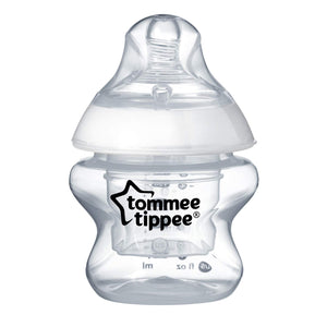 Tommee Tippee Closer to Nature First Feed Bottle, Extra Slow Flow Nipple – 5oz, 1ct