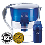 PUR CR1100CV Classic Water Filter Pitcher Filtration System, 11 Cup