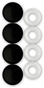 Cruiser Accessories 82650 License Plate Frame Fastener Caps, Black