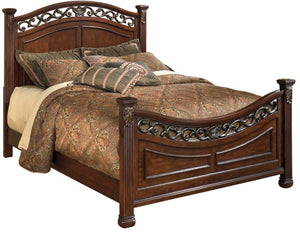 Ashley Furniture Signature Design - Leahlyn California King Panel Rails - Component Piece - Warm Brown