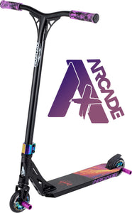 Arcade Pro Scooters Plus Stunt Scooter for Kids 10 Years and Up - Perfect for Intermediate Boys and Girls - Best Trick Scooter for BMX Freestyle Tricks ARCADE PLUS - Mutant Lava