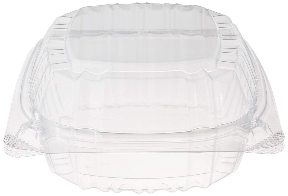 "Dart Container C53PST1-100 Dart 5"" Clear Hinged Plastic Food Take Out to-Go/Clamshell Container 100 Pack, 5 Inch"