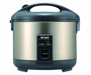 Tiger JNP-S18U-HU 10-Cup (Uncooked) Rice Cooker and Warmer, Stainless Steel Gray Urban Satin Ez Store USA