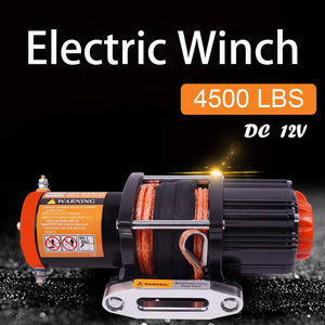 ORCISH 12V 4500lb Electric ATV UTV Synthetic Rope Winch Kits Ez Store USA