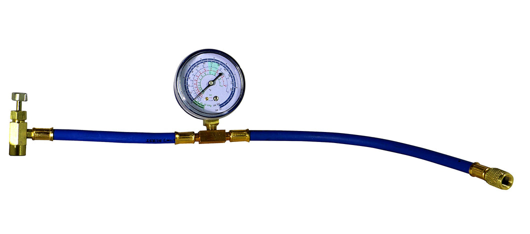 Enviro-Safe 3226 Can Tap with Gauge - R-134a can to R-12/R-22 port