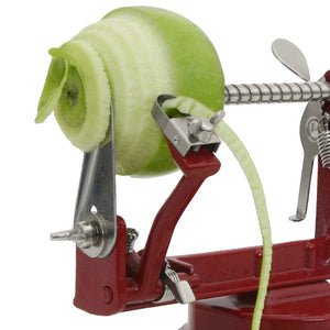 VKP Brands VKP1010 Johnny Apple Peeler, Stainless Steel Blades, Red