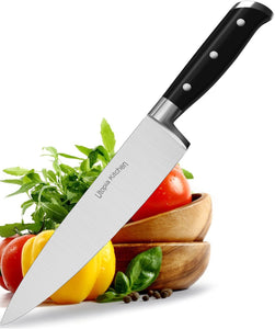 Utopia Kitchen Chef Knife 8 Inches Cooking Knife Carbon Stainless Steel Kitchen Knife with Sheath and Ergonomic Handle - Chopping Knife for Professional Use 1