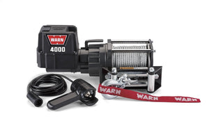 "WARN 94000 4000 DC Series 12V Electric Winch with Steel Cable Rope: 7/32"" Diameter x 43' Length, 2 Ton (4,000 lb) Capacity Model 94000 Ez Store USA"