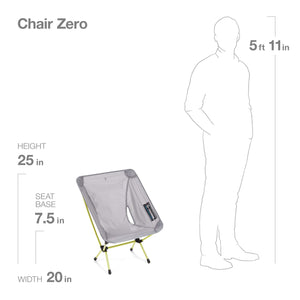 Helinox Chair Zero Ultralight Compact Camping Chair Grey
