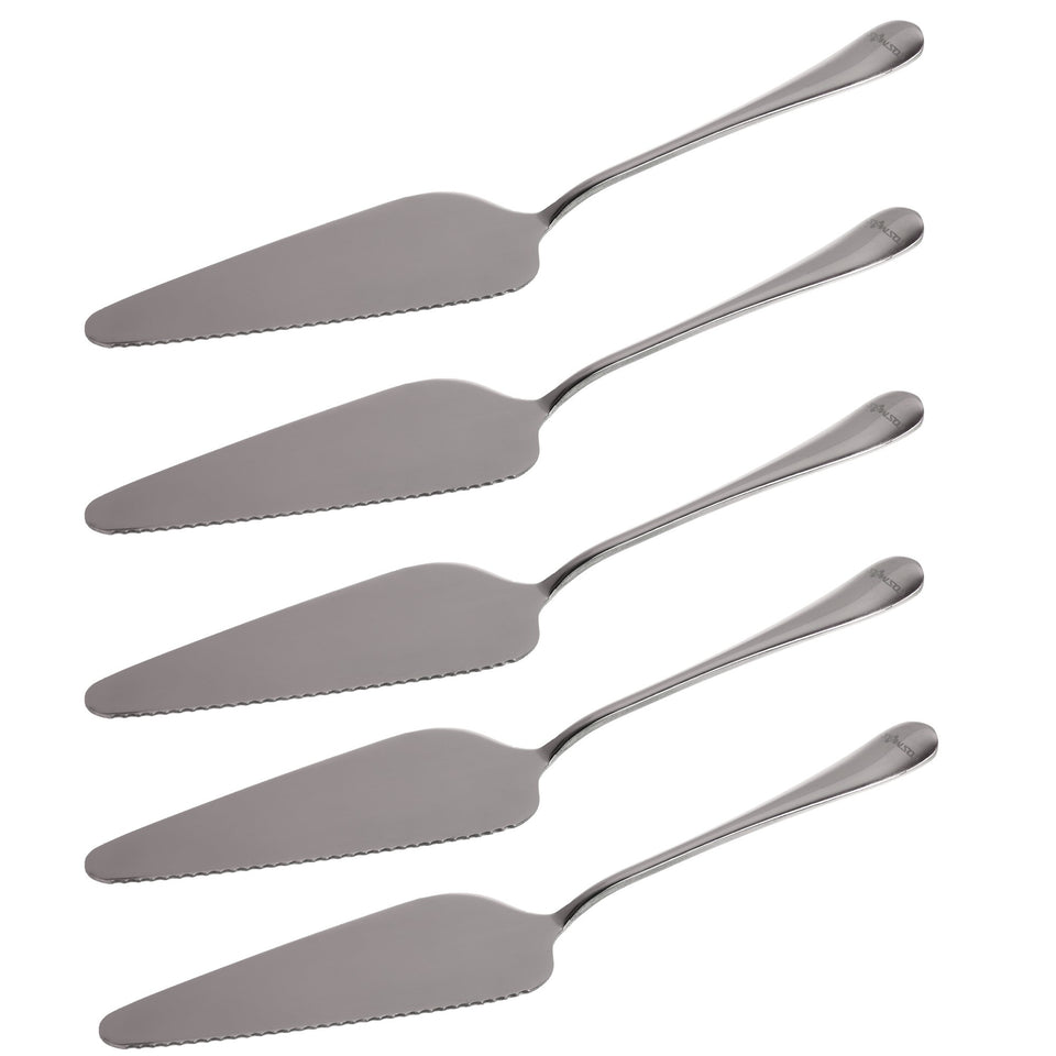 STONCEL Stainless Steel Pie Cake Server with Mirror Finished Onside with Fine Serrated Edge (5-PACK) 5-PACK