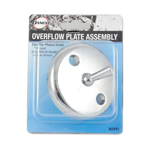 DANCO Bath Tub Overflow Plate with Trip Lever, Chrome, 1-Pack (80991)