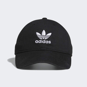 adidas Originals Men's Relaxed Modern Strapback Cap Black/ White One Size