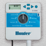 Hunter Sprinkler XC600i X-Core 6-Station Indoor Controller Timer 6 Zone,Black,Small