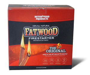 Better Wood Products Fatwood Firestarter Box, 5-Pounds