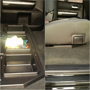 ESP Truck Accessories Plastic Under Seat Storage for 2014-2019 Toyota Tundra CrewMax