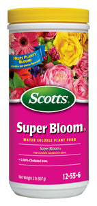 Scotts Super Bloom Water Soluble Plant Food, 2 lb - NPK 12-55-6 - Fertilizer for Outdoor Flowers, Fruiting Plants, Containers and Bed Areas - Feeds Plants Instantly