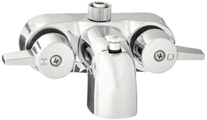 "Heavy Duty 3 3/8"" Centers Chrome Plated Diverter Clawfoot Tub Faucet"