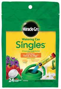 Miracle-Gro Watering Can Singles All Purpose Water Soluble Plant Food, Includes 24 Pre-Measured Packets