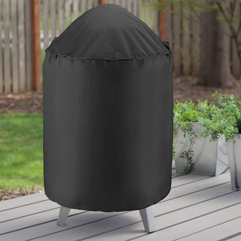 "Unicook Heavy Duty Waterproof Dome Smoker Cover, 30"" Dia by 36"" H, Kettle Grill Cover, Barrel Cover, Water Smoker Cover, Fit Grill/Smoker for Weber Char-Broil and More 30""Dia"
