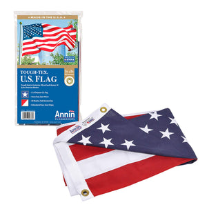 Annin Flagmakers Model 2730 American Flag Tough-Tex The Strongest, Longest Lasting, 5x8 ft, 100% Made in USA with Sewn Stripes, Embroidered Stars and Brass Grommets 5x8 ft.