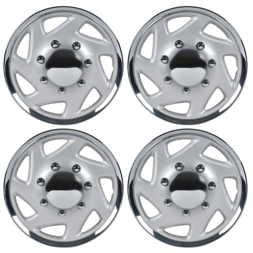 BDK Hubcaps Wheel Covers (16 inch) – Four (4) Pieces Corrosion-Free & Sturdy – Full Heat & Impact Resistant Grade – OEM Replacement for Ford E150 E250 E350 Econoline F-150 F-250 F-35 F-250 F-350
