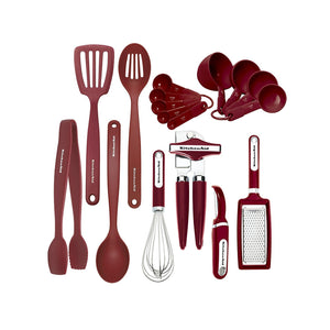 KitchenAid Classic Tool and Gadget Set, 17-Piece Red 17-Piece Set Red