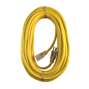 US Wire and Cable 74100 Extension Cord, 100ft, Yellow 100 ft