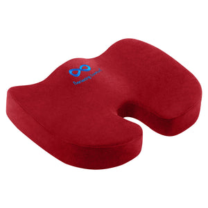 Everlasting Comfort Seat Cushion for Office Chair - Tailbone Pain Relief Cushion - Coccyx Cushion - Sciatica Pillow for Sitting (Red) Red
