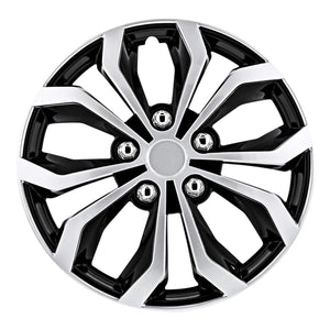 "Pilot Automotive WH553-15S-BS Black/Silver 15 Inch 15"" Spyder Performance Wheel Cover 