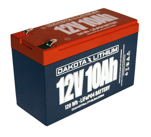 12 Volt Rechargeable Lithium Battery - 12 V 10 Ah - LiFEPO4 Ez Store USA