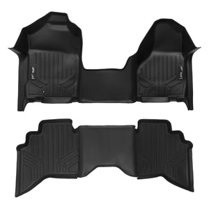 MAXLINER Floor Mats 1st Row 1 Piece and 2nd Row Liner Set Black for 2002-2008 Ram 1500/2003-2009 Ram 2500/3500 Quad Cab Ez Store USA