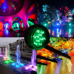 StillCool Submersible LED Lights, Waterproof Multi Color Underwater Lights with Remote Battery Operated LED Decorative Lights for Lighting Up Vase,Fish Tank,Wedding,Halloween,Christmas (4Pack) 4pcs LED