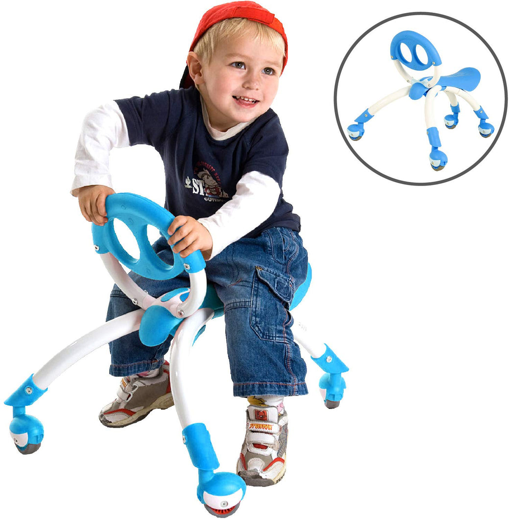 Pewi Walking Ride On Toy - From Baby Walker to Toddler Ride On for Ages 9 Months to 3 Years Old Blue