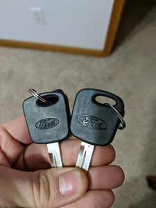 1998 1999 2000 2001 2002 2003 Ford F150 F250 F350 Un-Cut Transponder Ignition Key (DIY Programming) - EZstoreUSA