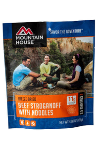 Mountain House Beef Stroganoff with Noodles | Freeze Dried Backpacking & Camping Food Classic! 1-pouch