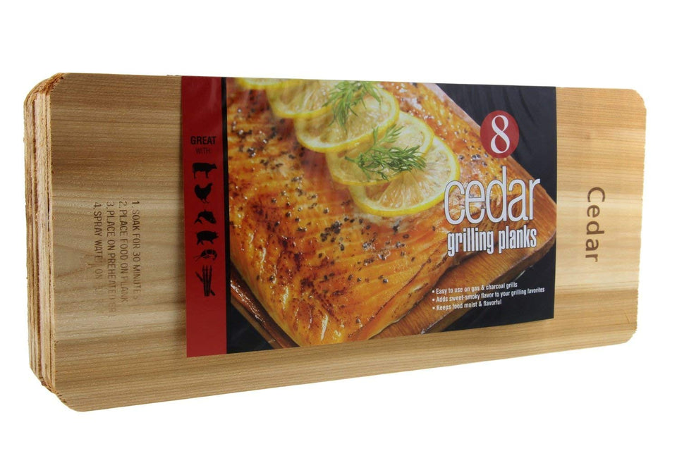 "Coastal Cuisine Cedar Grilling Planks, Simply Soak, Smoke, & Serve- Designed for Moist & Flavorful Fish, Meat, and Veggies – Add Sweet-Smoky Flavor to your Grilling Favorites, 7x16"" Set of 8 1"