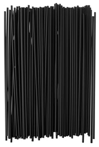 Crystalware, Plastic Stir Straw, Sip Stirrer, For Coffee and Cocktail, 7 1/2 Inches 1000/Box, Black 7-1/2 Inch