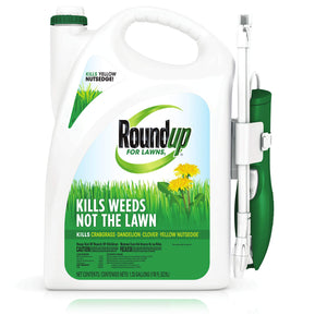 Roundup For Lawns1 Ready to Use - All-in-One Weed Killer for Lawns, Kills Weeds - Not the Lawn, One Solution for Crabgrass, Dandelions, Clover and Nutsedge, For Use on Northern Grasses, 1.33 gal. Comfort Wand